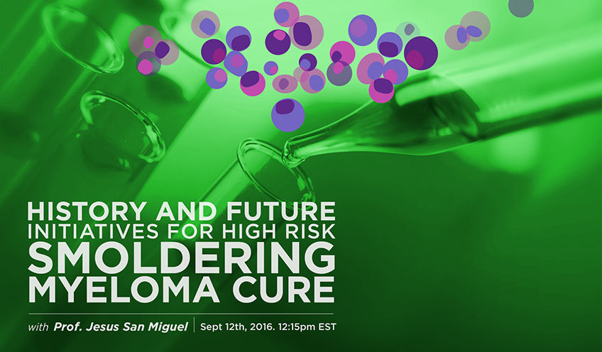 History and Future Initiatives for High Risk Smoldering Myeloma Cure
