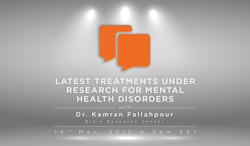Latest Research in Brain Health with Dr Kamran Fallahpour of Brain Resource Center on Mental Health