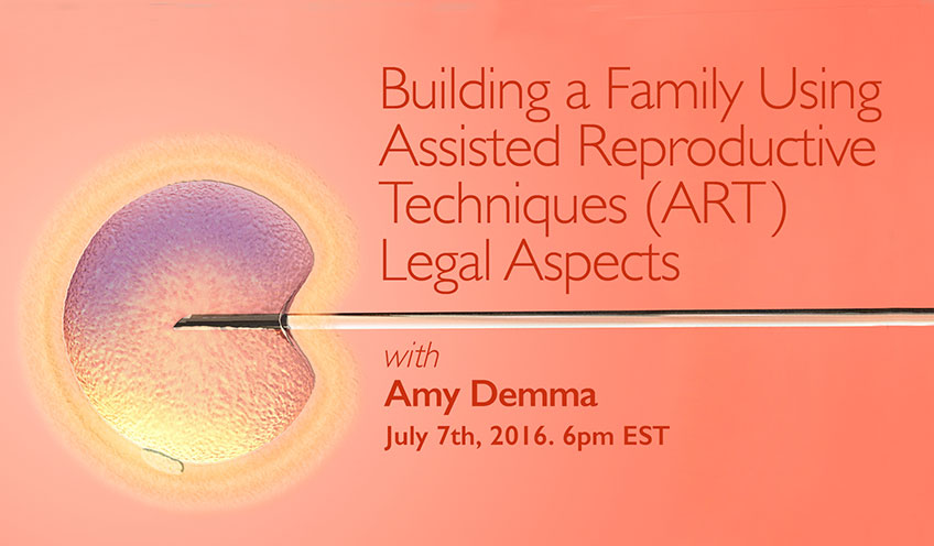 Family Building Using Assisted Reproductive Techniques (ART) : Legal Aspects